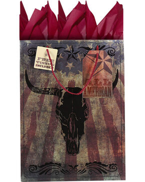 BB Ranch® Longhorn Gift Bag with Tissue Paper, No Color, hi-res