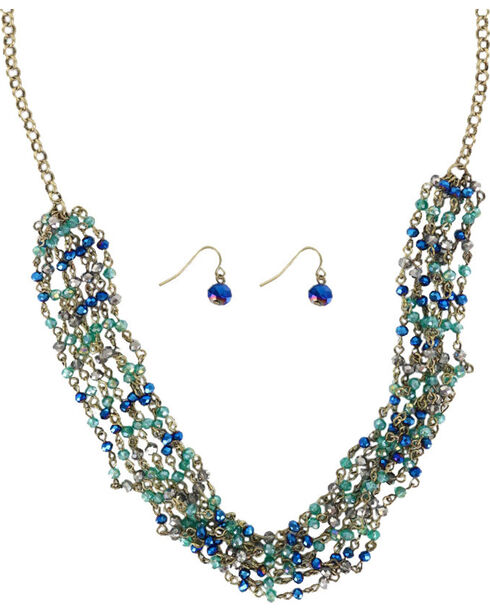 Shyanne® Women's Crystal Jewelry Set, Turquoise, hi-res
