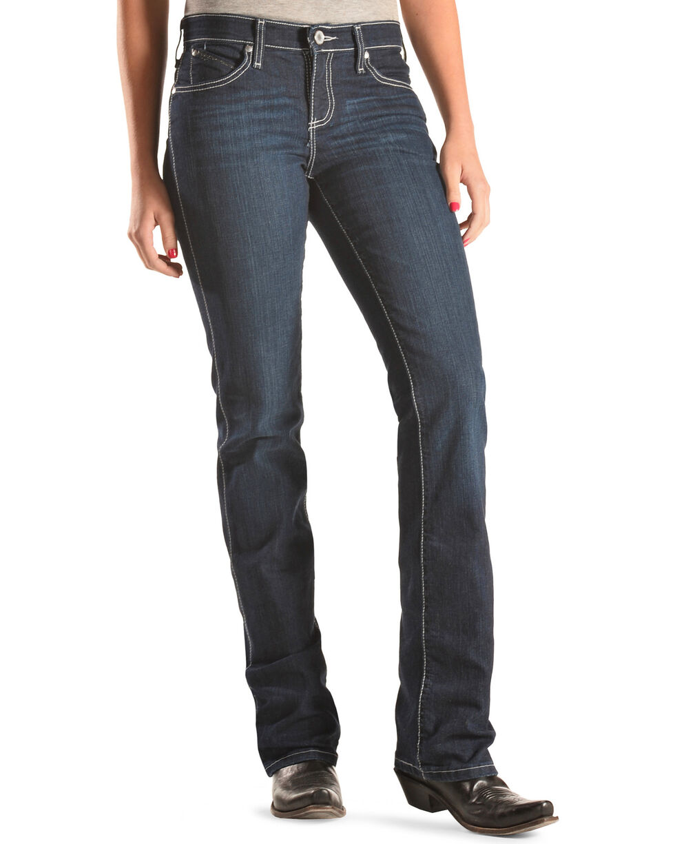 Wrangler Women's Q-Baby Booty Up Riding Jeans, Denim, hi-res
