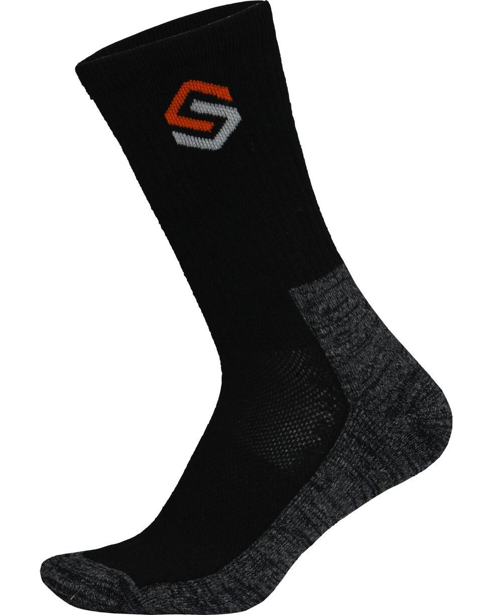 Scentlok Technologies Men's Black Everyday Socks, Black, hi-res