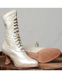 Oak Tree Farms Ivory Jasmine Pearl Boots - Medium Toe, , hi-res