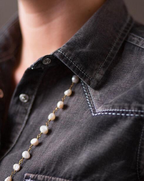 Ryan Michael Women's Black Denim Dress, Black, hi-res