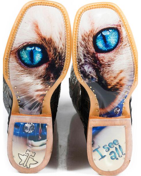 Tin Haul Women's Meow Western Boots, Grey, hi-res