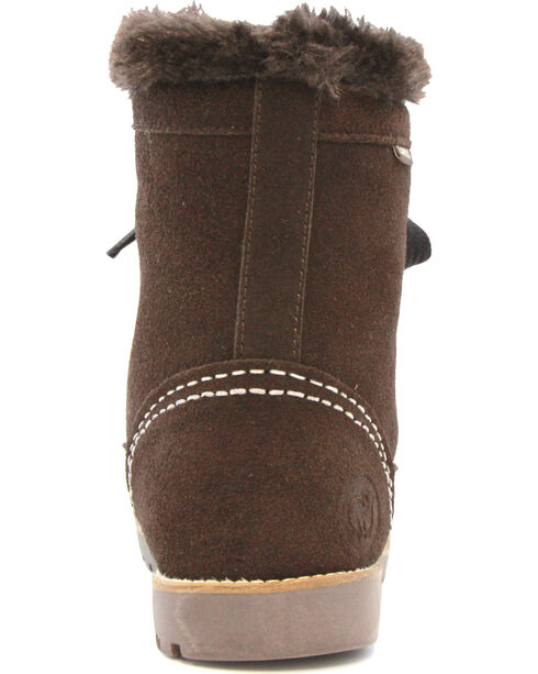 Lamo Footwear Women's Taylor Lace-Up Boots - Round Toe, Chocolate, hi-res