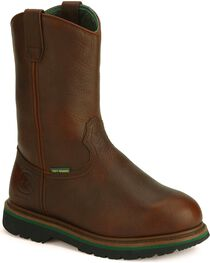 John Deere® Men's Steel Toe Met Guard Boots, , hi-res