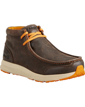 Ariat Men's Dark Brown Spitfire Shoes , Dark Brown, hi-res