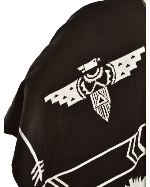 Cowgirl Justice Women's Thunderbird Poncho, Black, hi-res
