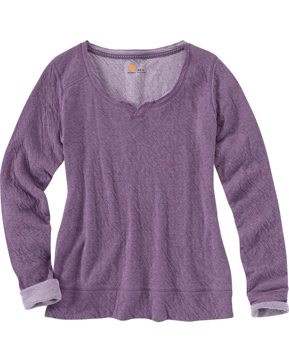 Carhartt Women's Pondera Long Sleeve Shirt, Black, hi-res