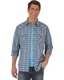 Wrangler Retro Men's Plaid with Overprint Premium Long Sleeve Snap Shirt - Big & Tall, , hi-res