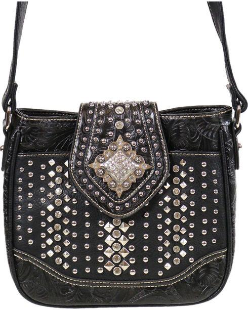 Montana West Women's Rhinestone Studded Crossbody Bag, Black, hi-res