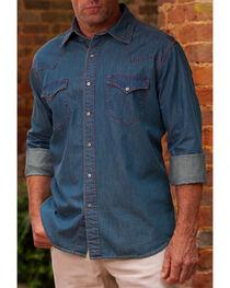 Ryan Michael Men's Vintage Dot Print Western Shirt, , hi-res