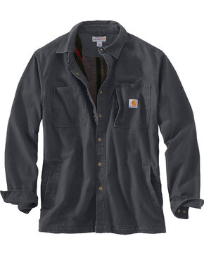 Carhartt Men's Rugged Flex Rigby Shirt Jacket , Charcoal, hi-res