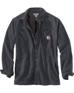 Carhartt Men's Rugged Flex Rigby Shirt Jacket - Big , Charcoal, hi-res