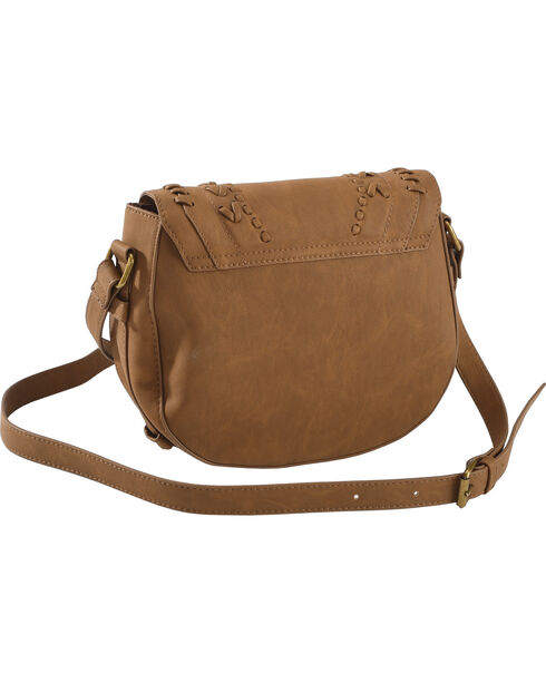 Shyanne Women's Luna Tassel Saddle Bag, Brown, hi-res