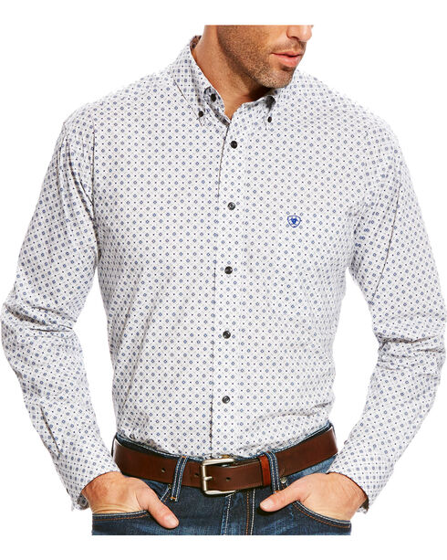 Ariat Men's Grey Burton Printed Western Shirt - Tall, Multi, hi-res
