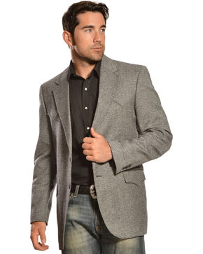 Circle S Plano Sport Coat - Big & Tall, Dark Grey, hi-res