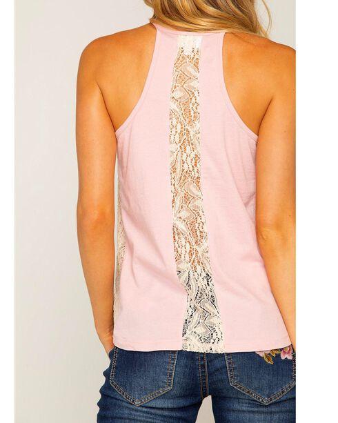Shyanne Women's Dream Catcher Lace Racerback Tank, Blush, hi-res
