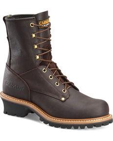 Carolina Mens Logger 8 Steel Toe Work Boots, Brown, hi-res