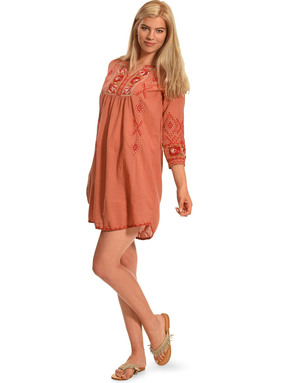 3J Workshop by Johnny Was Peach Asilah Square Yoke Tunic, Peach, hi-res