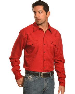 Garth Brooks Sevens by Cinch Paisley Print Shirt, Red, hi-res