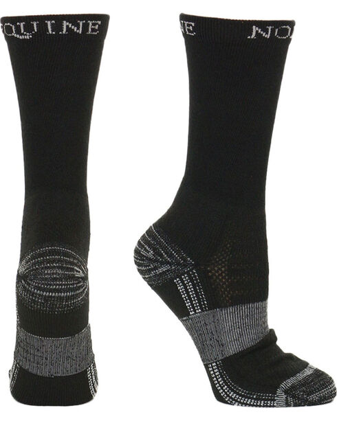 Noble Equine Men's Best Dang Crew Socks, Black, hi-res