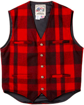 Schaefer Garrison Plaid Vest, Red, hi-res