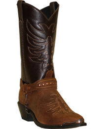 "Sage Boots by Abilene Men's 12"" Scorpion Western Boots, Brown, hi-res"