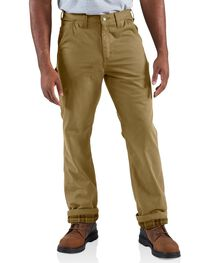 Carhartt Men's Flannel Lined Twill Dungaree Pants, , hi-res