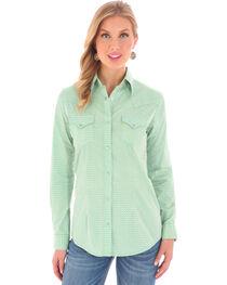 Wrangler Women's Western Printed Long Sleeve Shirt, , hi-res