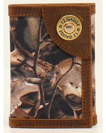 Ariat Camo Shotgun Shell Concho Tri-Fold Wallet, , hi-res