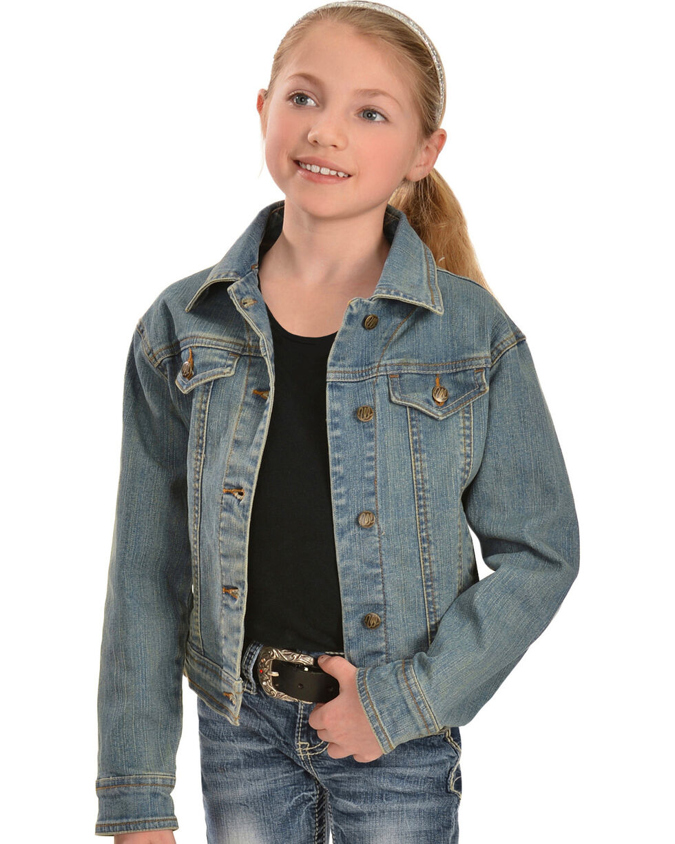 Wrangler Girls' Denim Jean Jacket, , hi-res