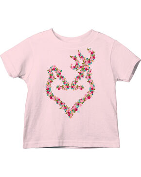 Browning Toddler Girls' Pink Bouquet Buckheart Tee , Pink, hi-res
