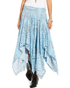 Ariat Women's Hankie Skirt, Medium Blue, hi-res