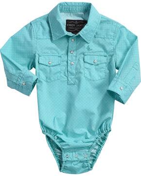 Cody James Infant Boys' Tanto Long Sleeve Print Onesie, Turquoise, hi-res