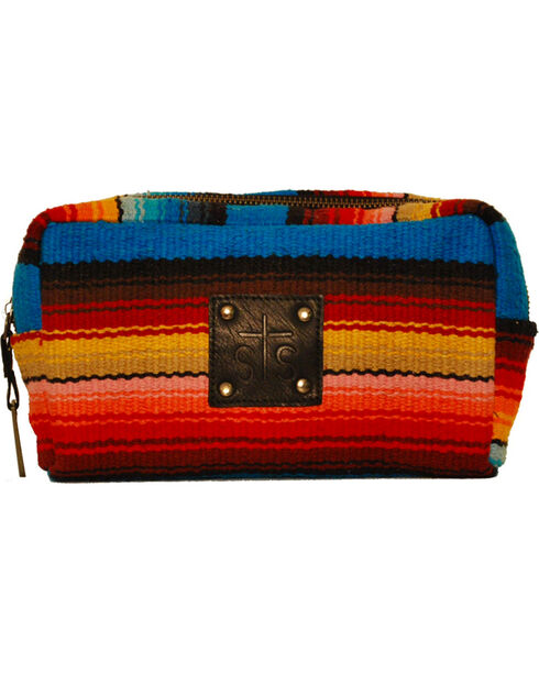 STS Ranchwear Women's Bebe Serape Cosmetic Bag, Multi, hi-res