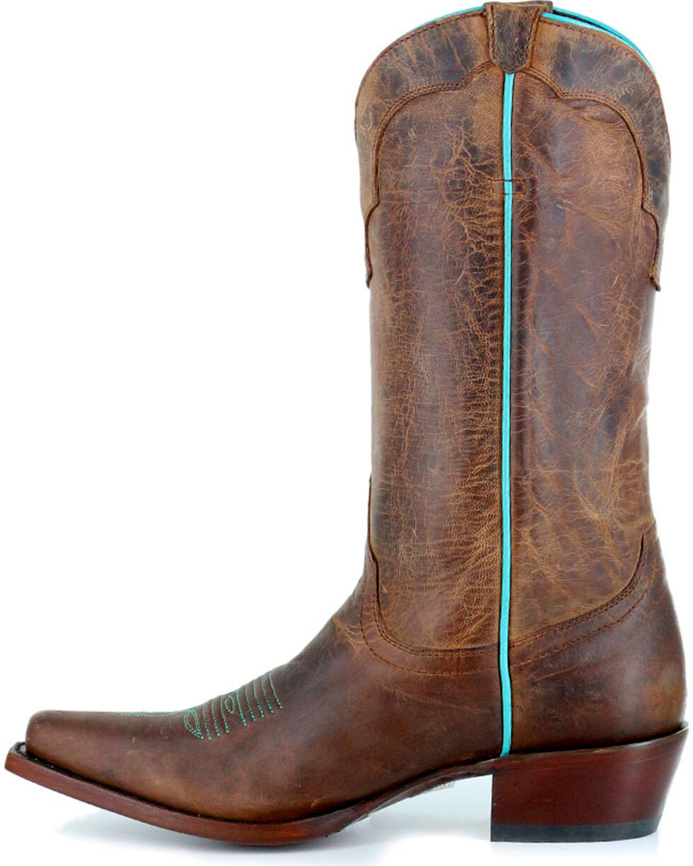 Shyanne® Women's Contrast Piping Laced Western Boots , , hi-res