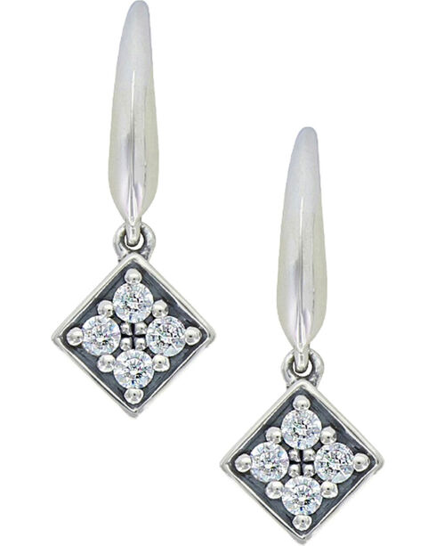 Sterling Lane Women's Twinkling Starlight Core Earrings , Silver, hi-res