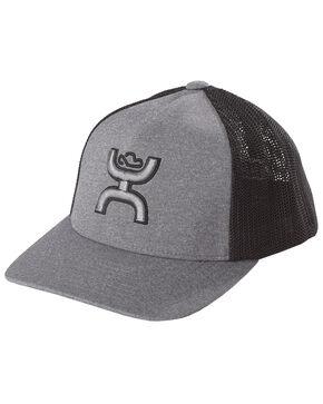 HOOey Youths' Grey Coach FlexFit Cap , Grey, hi-res