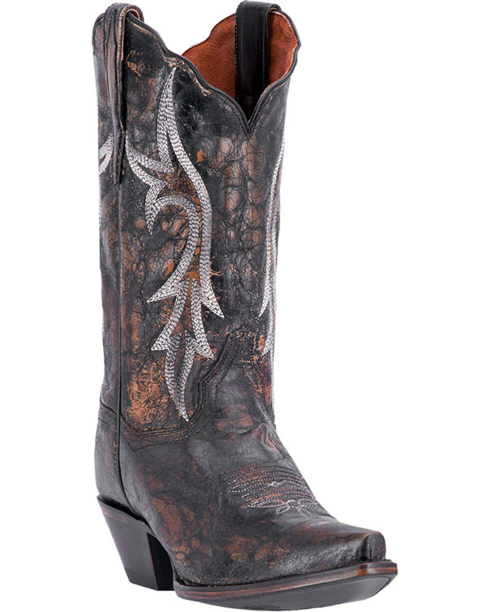 Dan Post Women's Knockout Western Boots, Black, hi-res