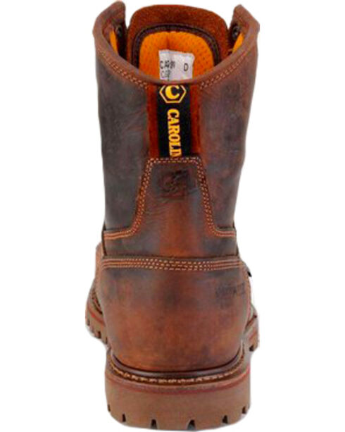 "Carolina Men's 8"" Waterproof Composite Toe Work Boots, Brown, hi-res"