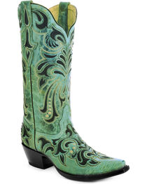 Corral Women's Embroidered Western Boots, , hi-res