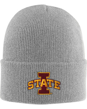 Carhartt Men's Iowa State Beanie, Heather Grey, hi-res