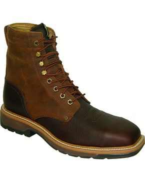 Twisted X Men's Lite Waterproof Work Shoes, Oiled Rust, hi-res