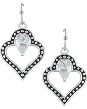 Montana Silversmiths Women's Spade Of Hearts Earrings , Silver, hi-res