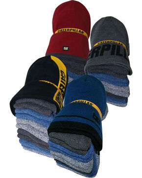CAT Men's 6 Pack of Work Socks and Beanie, Multi, hi-res