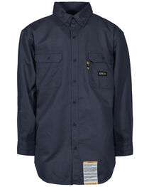 Berne Flame Resistant Button Down Work Shirt - 3XL and 4XL, , hi-res