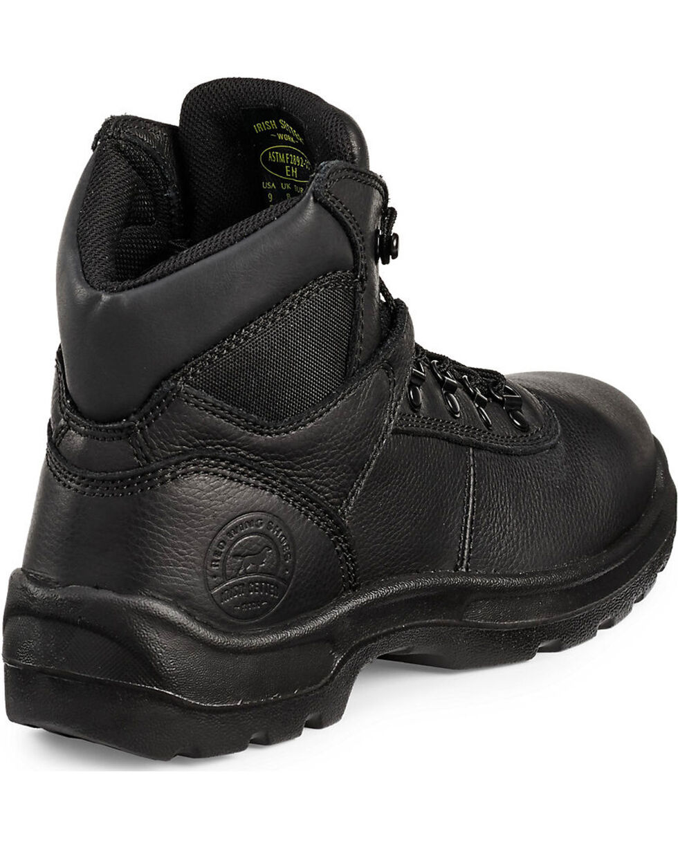 "Irish Setter by Red Wing Shoes Men's Ely Black Hiker 6"" Work Boots - Steel Toe, Black, hi-res"