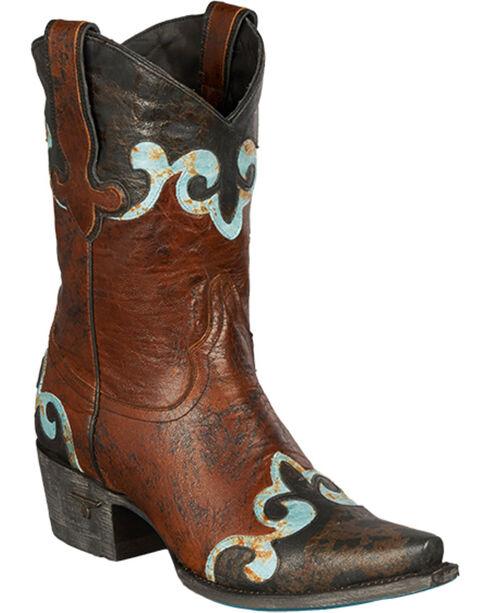Lane Dakota Short Cowgirl Boots - Snip Toe, Dark Brown, hi-res