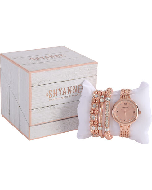 Shyanne Women's Gold Watch Bracelet Set, Gold, hi-res