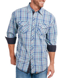 Cowboy Up Men's Vintage Wash Plaid Long Sleeve Shirt, , hi-res
